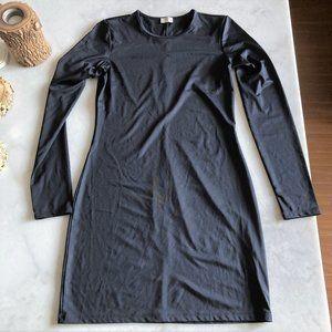 Aritzia Wilfred black long sleeve slim mini dress